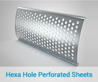Hexa Hole Perforated Sheets